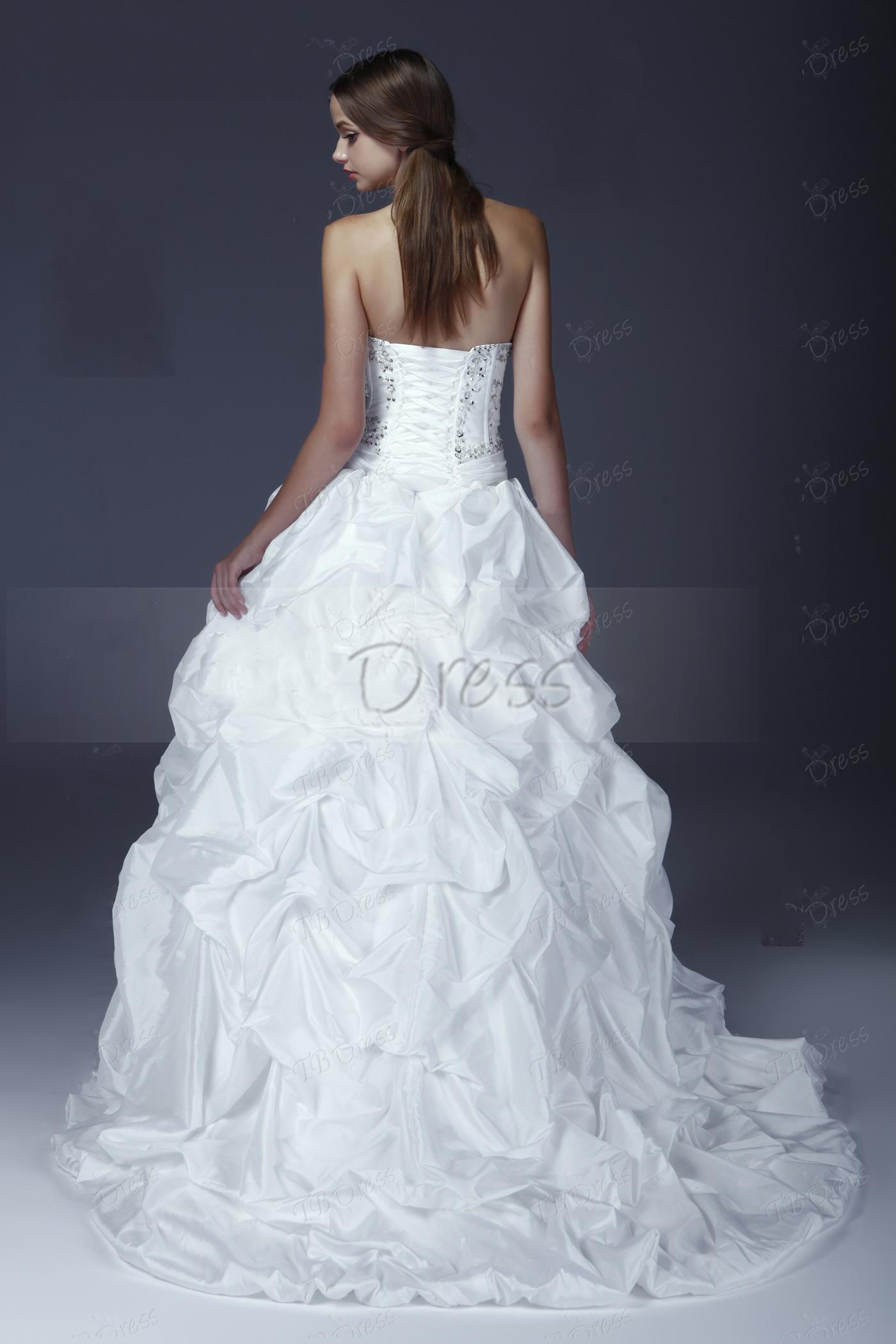 Vestido de novia Elegante del vestido de bola 2013 del amor del vestido de novia sin mangas elegante de Aleksander