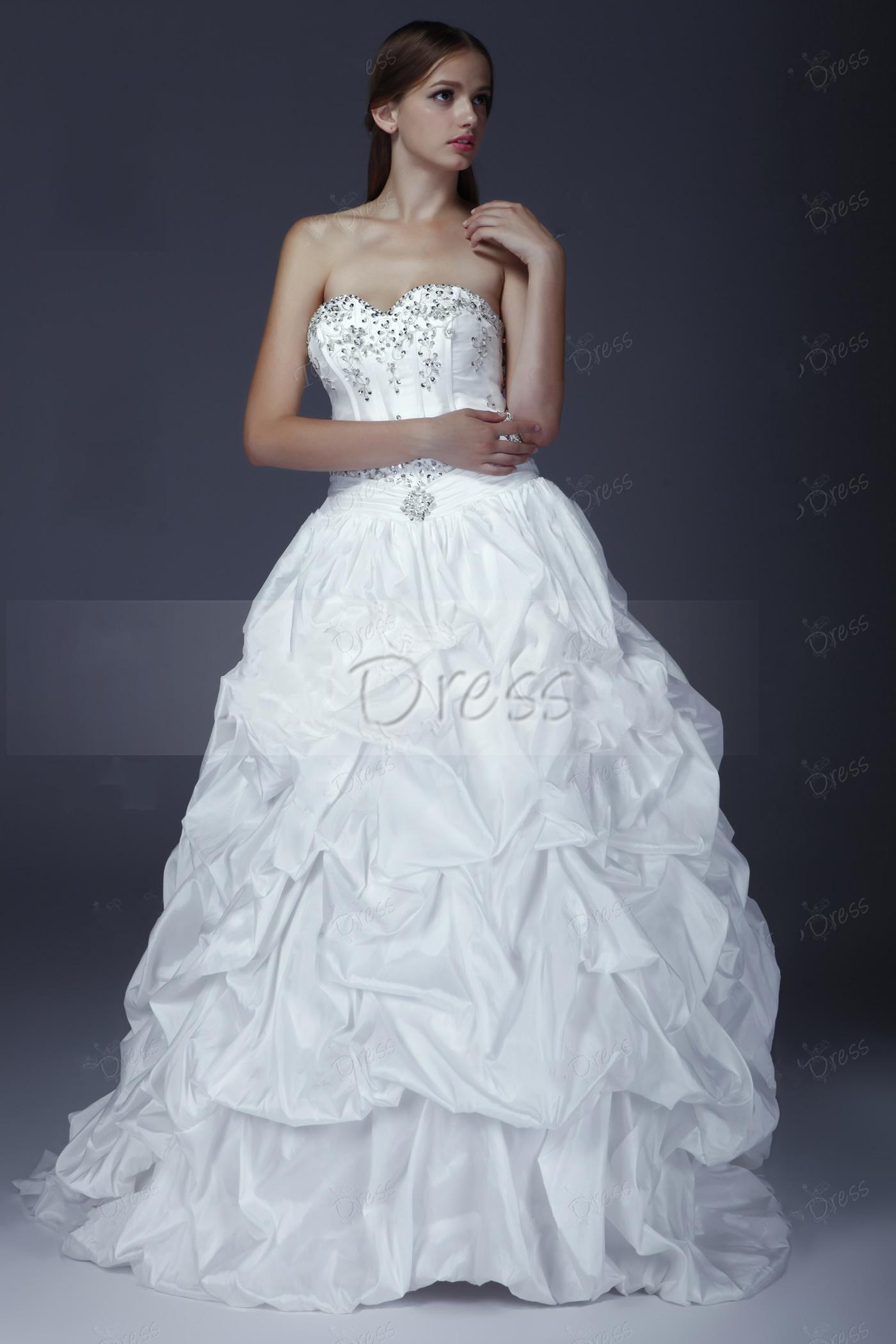 2013 personalizado vestido de baile elegante querida mangas Ruffling vestido de noiva de Aleksander