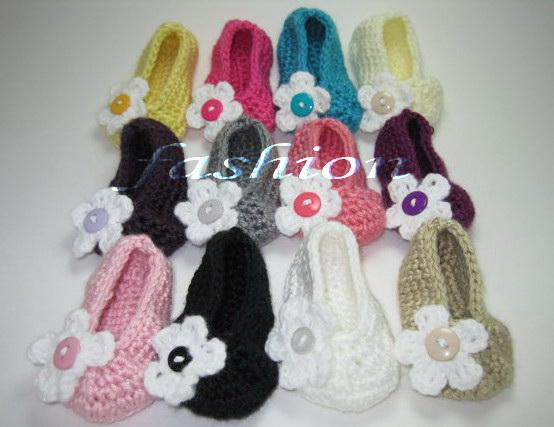 15%off!Crochet shoes sandals/Baby Crib Shoes Baptism Shoes Footwear/toddler shoes/Crochet Flats Ballerina Slippers Booties !10pairs(20pcs)