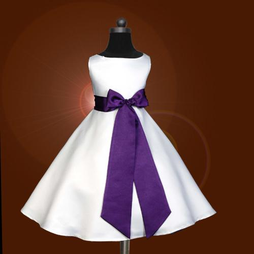 Free Ship,Custom,Cheap,Bowknot,Purple Sash,Pageant Party,Flower ...