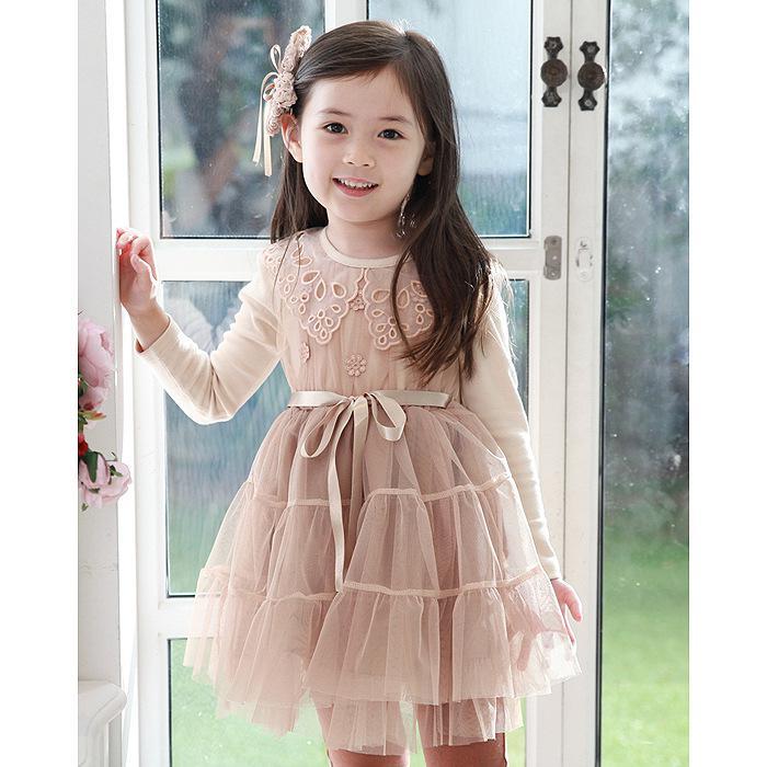 Baby girls dresses girl dress flower Girl's Baby dress Children's dresses Lace girl dress