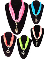 Wholesale fast bib - Best Buy Gifts Bib Necklace Scarf Short Pendant Charm Jewellry Lady Scarves Fast Free Shipping