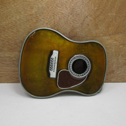 enamel belt buckles 2019 - BuckleHome guitar belt buckle 2 clolors available with pewter finish with color enamel FP-02642 with continous stock fre