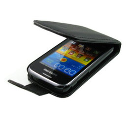 Wholesale Galaxy Y Phone - New Leather Case Pouch + LCD Film screen protector For SAMSUNG GALAXY Y DUOS S6102 mobile phone a