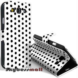 Wholesale Galaxy S Cases Dots - For Samsung Galaxy S3 Case,Polka Dots Flip PU Leather Cover Case With Stand For Galaxy S iii i9300,F