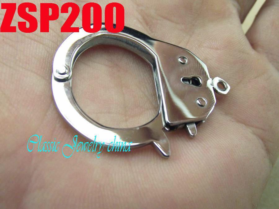 KUNAFIR Nuovi arrivi collana in acciaio inox parti vendita calda 10 pezzi lotto grande argento manette accessori gioielli ZSP200