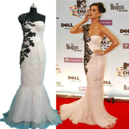 Wholesale Hot Selling Mermaid One Shoulder - Hot Sell Custom Made Cheap One Shoulder Evening Dress Applique Chiffon Bridaesmaids Prom Dresses