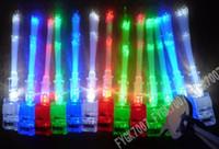 elyaflı parmak ışıkları toptan satış-Noel öğeleri Parlak projeksiyon parmak lamba LED parmak ışıkları, 4 renk fiber optik parmak ışık EMS
