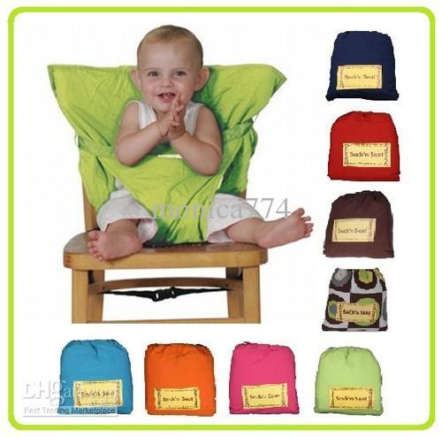 2013 Top Good! Baby sack'n seat Baby Eat chair Chaise ceinture kiskise Portable chair chair sack'n seat