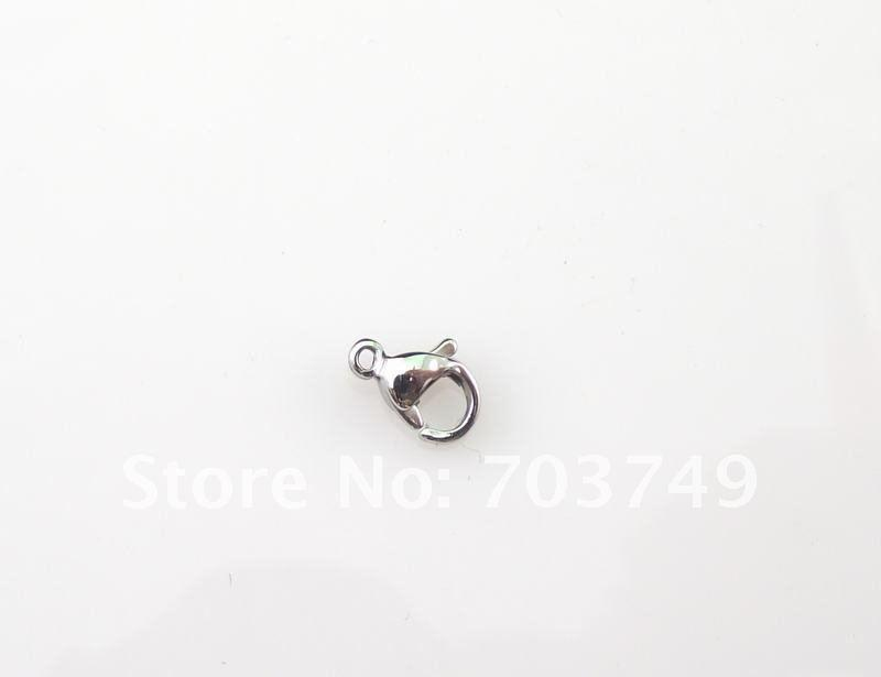 Stainless steel lobster clasp hook good quality fashion jewelry accessory parts#1313mm SP012