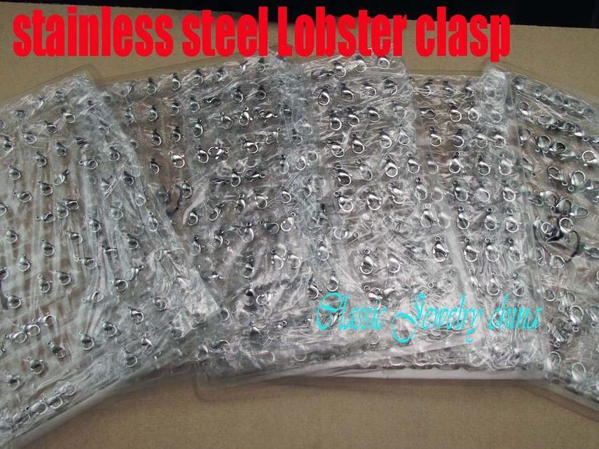Fechadura da lagosta de aço inoxidável ganchos de boa qualidade acessórios de moda jóias peças # 19 19mm