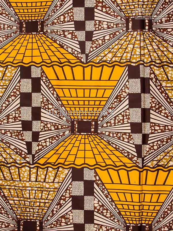 2018 African Fabric Super Wax Print Yellow Black Good Quality 6 ...