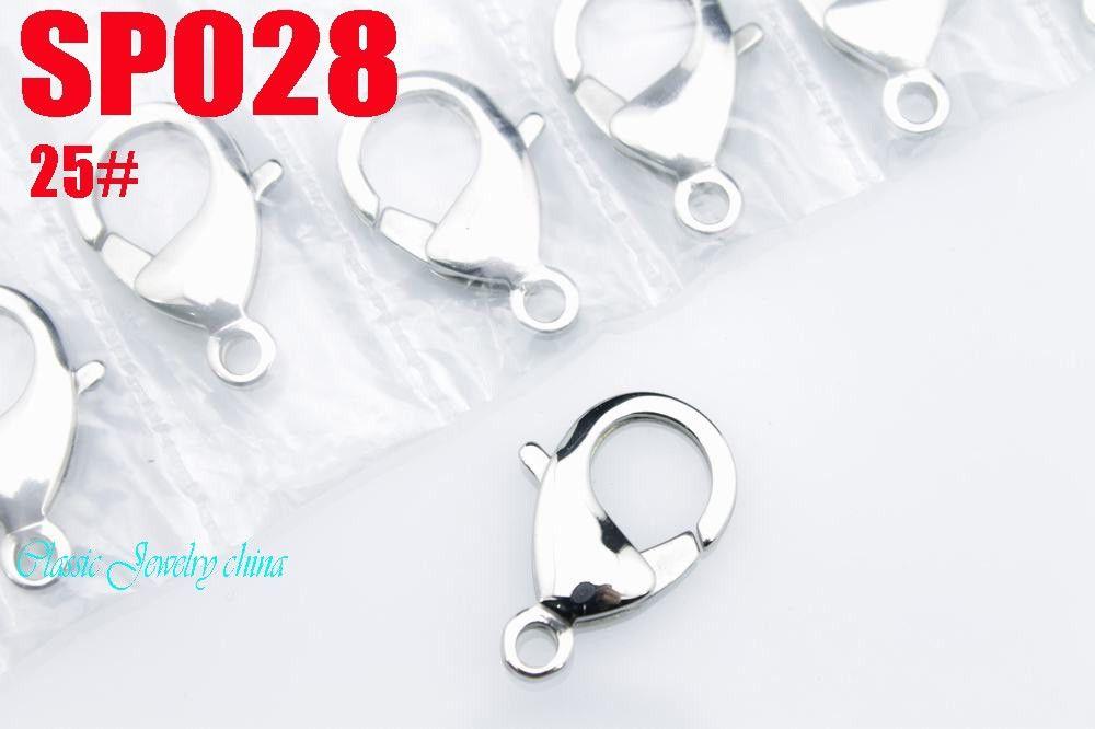 ステンレススチールロブスタークラスプフック良い品質ファッションジュエリーアクセサリー部品#25(25mm)20ピース