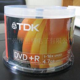 Wholesale Dvd R Wholesale - New TDK 16X DVD Media DVD-R Blank Discs Printable Record 4.7G 120Min 50PCS Lot One Roll Discs