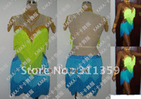 Wholesale Sequins Lace Fringe - 2012 New Competition fringe Latin dance dress,salsa dress,ballroom dress,KAKA-L9184