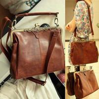 Wholesale Long Off Shoulder Bags - Free shipping, HOT sale,Restore leather twist off long belt bag shoulder bag,B161 brown