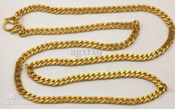 mens gold figaro cut necklace yellow chain chains inch diamond