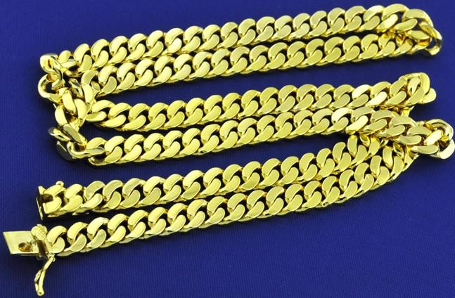 10k Gold Cuban Link Chain >> 2018 10k Mens Cuban Link Necklace Yellow Gold Chain Bullion Investment From Agxfxq, $25.13 ...