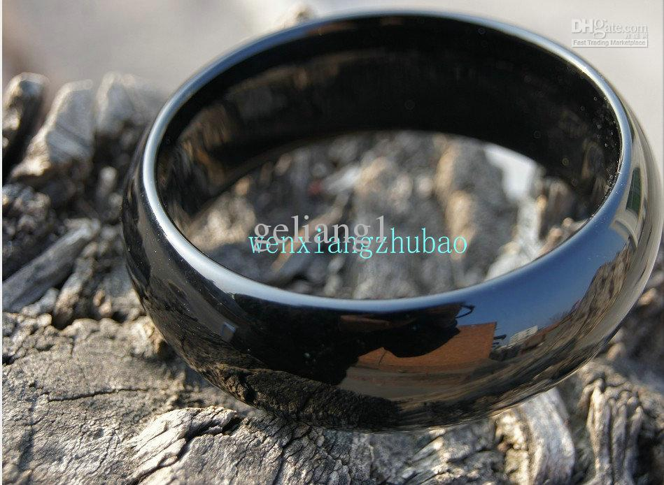 Gratis frakt 100% rent naturligt svart onyx armband, handgjorda, framgångsrika män val.