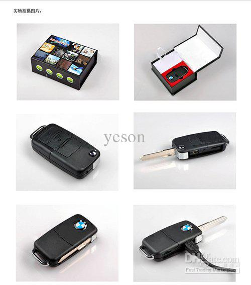 Mini Bmw Car Key Dvr Hidden Camera Video Recorder For Keychain