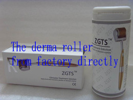 China Dropship ZGTS derma roller 192 titanium needles, Titanium alloy needle derma roller with golden handle, freeshipping supplier zgts titanium roller suppliers