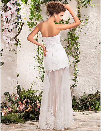 Beauty Two in one White Tulle Sweetheart A-Line Abiti da sposa Abiti da spettacolo nuziale Abiti da sposa Abiti personalizzati Taglia 2-16 HW812015