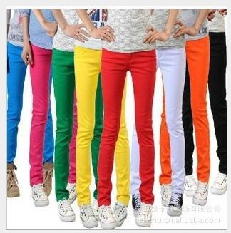 2016 Brand New Women&39s Jeans Colorful Female&39s Jeans High Waist