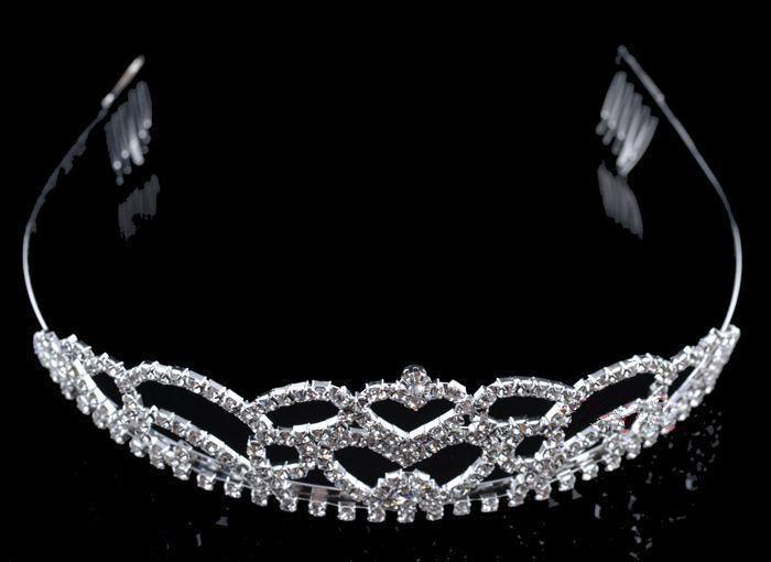 Stock Livraison Gratuite Noble Romantique Trois Pièces Collier Couronne Tiara Boucles D'oreilles De Mariage Ensembles