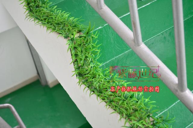 Simulatie gras kunstmatige plastic gras mat rechthoek gras mat home bruiloft decoratie 5 stks