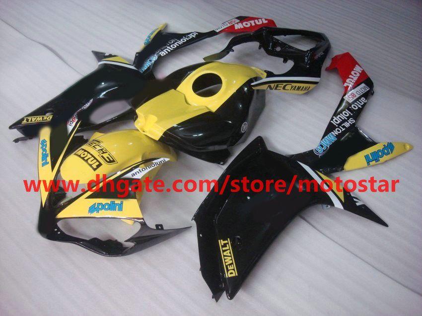 yellow black bodywork moto fairing for YAMAHA 2007 2008 YZF-R1 07 08 YZFR1 YZF R1 fairings kit R17D