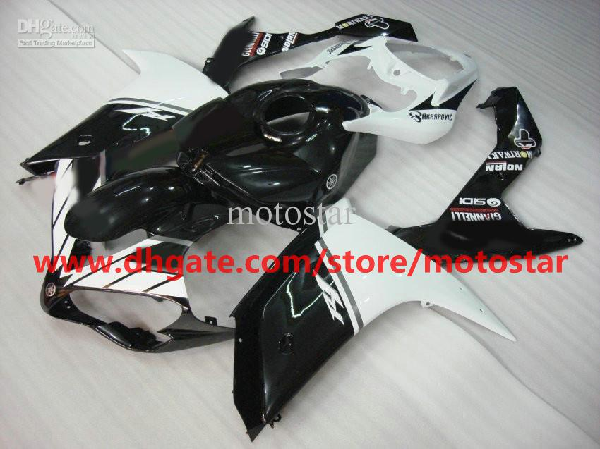 white black body kit moto fairing for YAMAHA 2007 2008 YZF-R1 07 08 YZFR1 YZF R1 fairings kit R17G