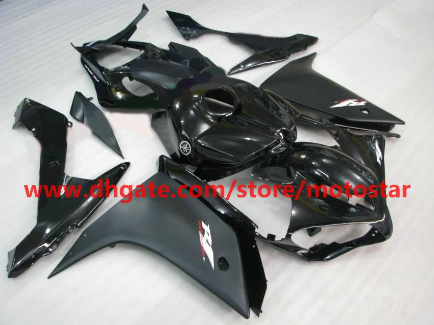 Flat Black White Moto Fairing for Yamaha 2007 2008 YZF-R1 07 08 YZFR1 YZF R1 FACEERS KIT R17J