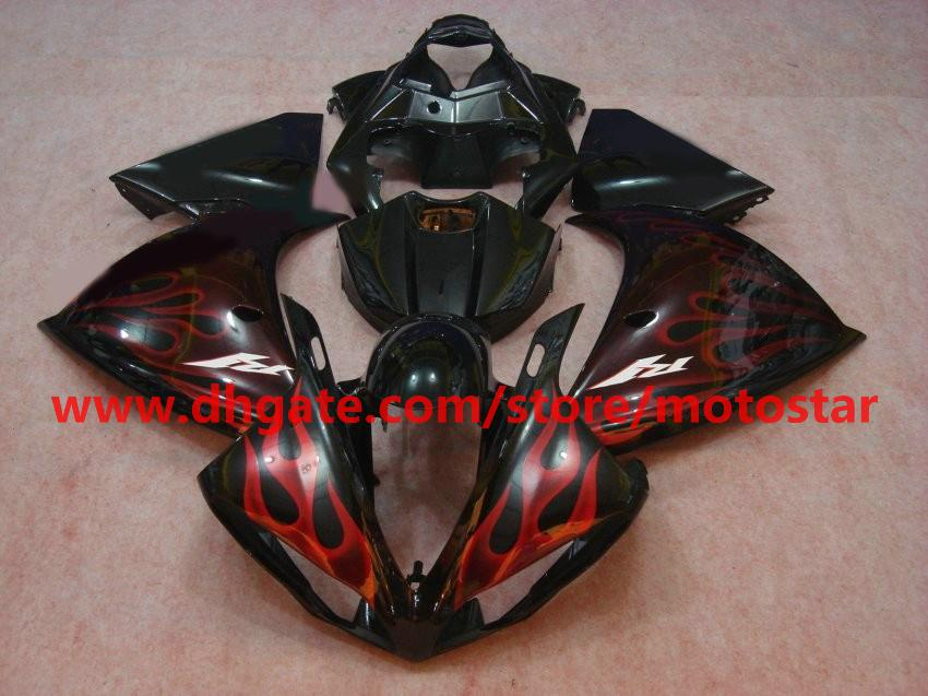 red flame fashion Injection molded for YAMAHA 2009 2010 2011 YZF-R1 09 10 11 YZF R1 fairings kit C11
