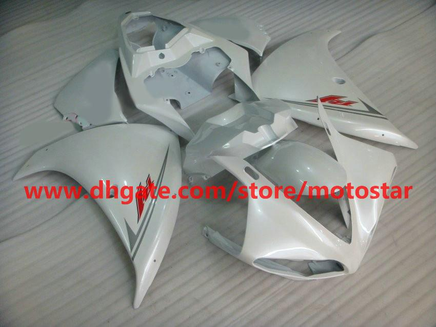 all white Injection molded for YAMAHA 2009 2010 2011 YZF-R1 09 10 11 YZF R1 fairings kit C11