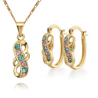 Wholesale Set Earrings Necklace Price - Wholesale - - lowest price Hot Sell 18k gold plated Necklace+Earring set TS08