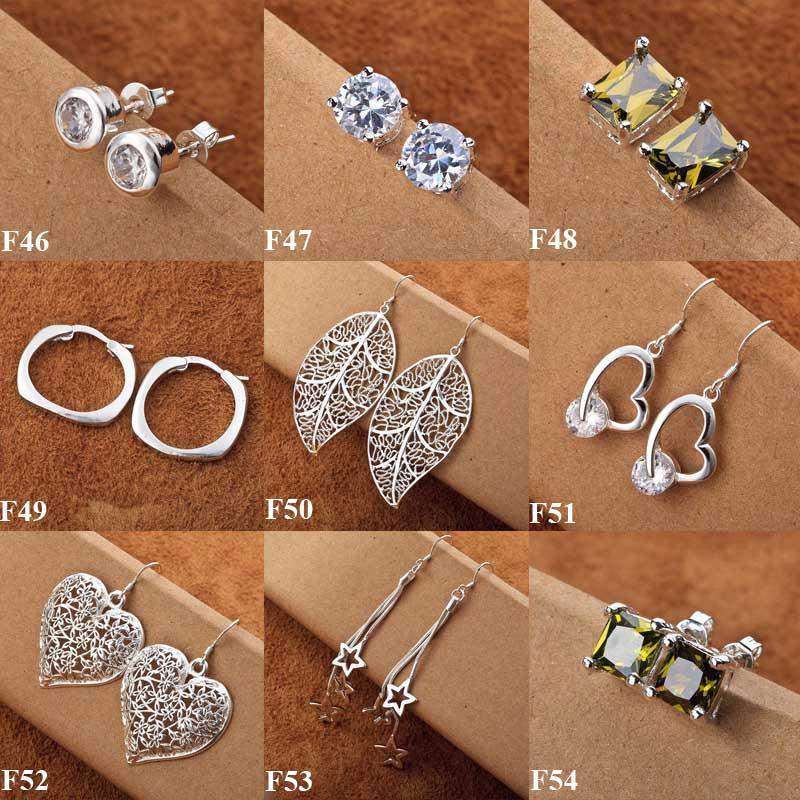 Hot Sale 925 Silver New Multi Styles Charms Silver Earrings Fashion Earrings Hot Sale