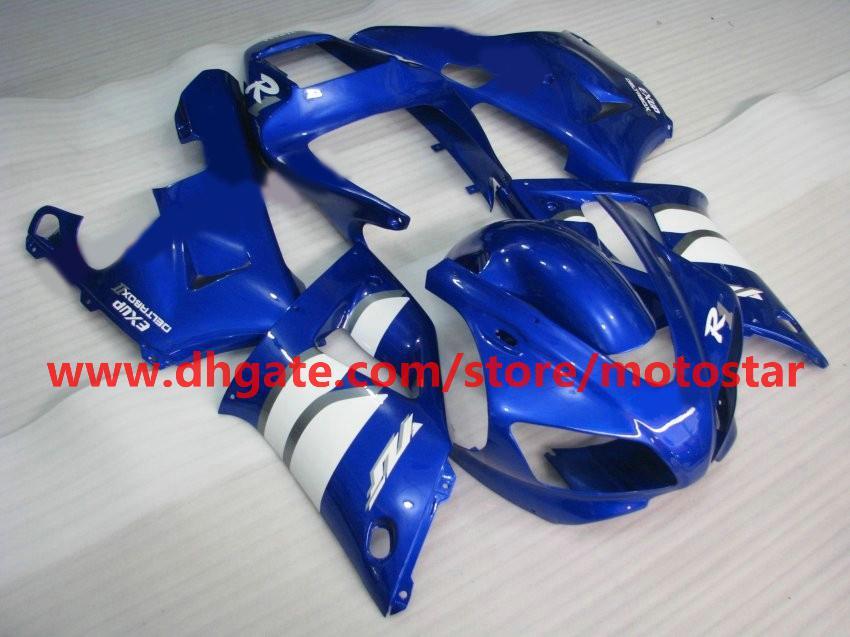 blue white Customize fairing for YAMAHA 1998 1999 YZF-R1 98 99 YZFR1 YZF R1 fairings body kit A3R1