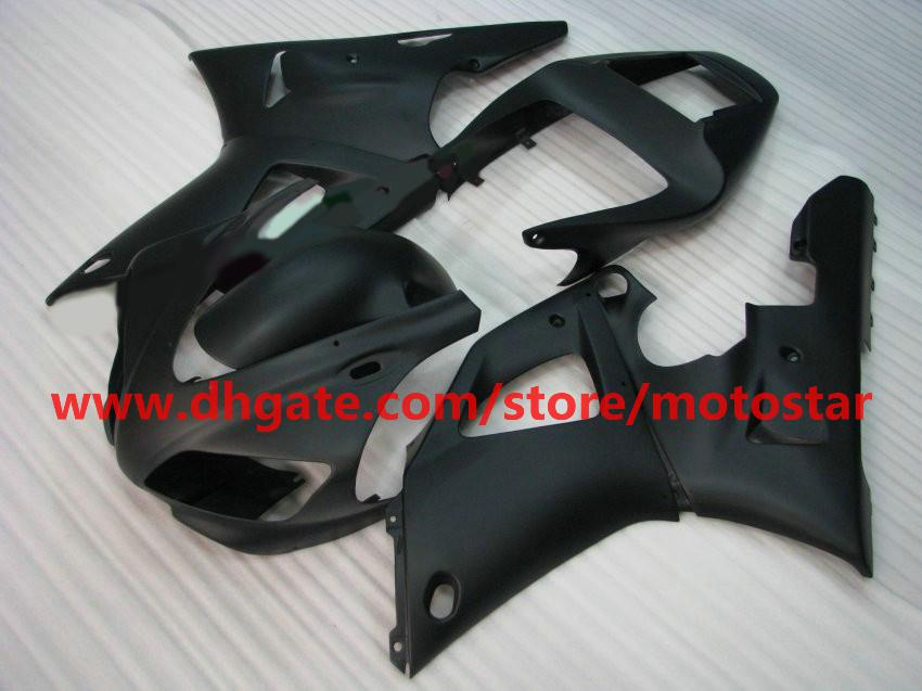 Flat Black Body Kit Fairing för Yamaha 1998 1999 YZF-R1 98 99 YZFR1 YZF R1 Fairings Body Kit BA2R1