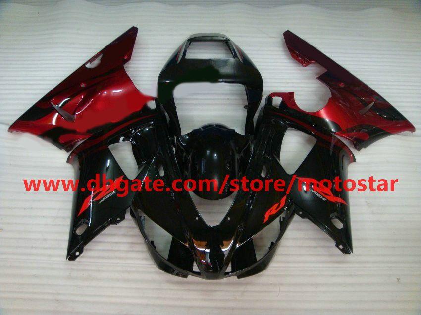 wine red black fairing for YAMAHA 1998 1999 YZF-R1 98 99 YZFR1 YZF R1 fairings body kit A2R2