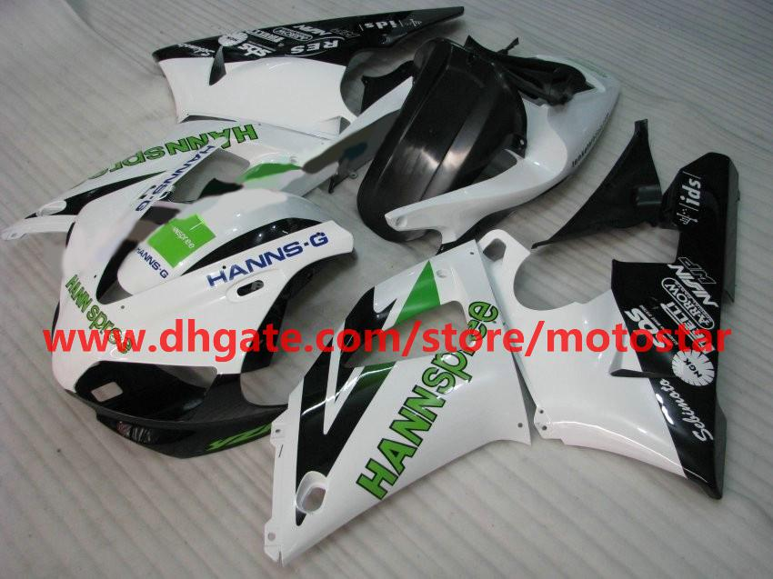Hot sale green white fairing for YAMAHA 1998 1999 YZF-R1 98 99 YZFR1 YZF R1 fairings body kit A1F3