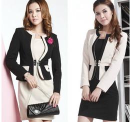 Wholesale Dresses Suite - New Arrival! Office Lady Formal Women Suit ( Blzer + Skirt ) DRESS SUITES Fashional Elegant