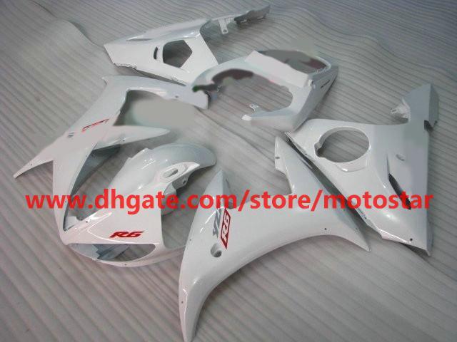 tutto bianco R6 di alta qualità YAMAHA YZF-R6 2003 2004 YZFR6 03 04 YZ R6 YZF600 kit carene R8P4