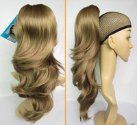 Wholesale Long Hairpieces For Women - 2013 Fashional Hairpieces Long Loose Wavy Ponytail Hair Extensions For Women #K18T Light Brown