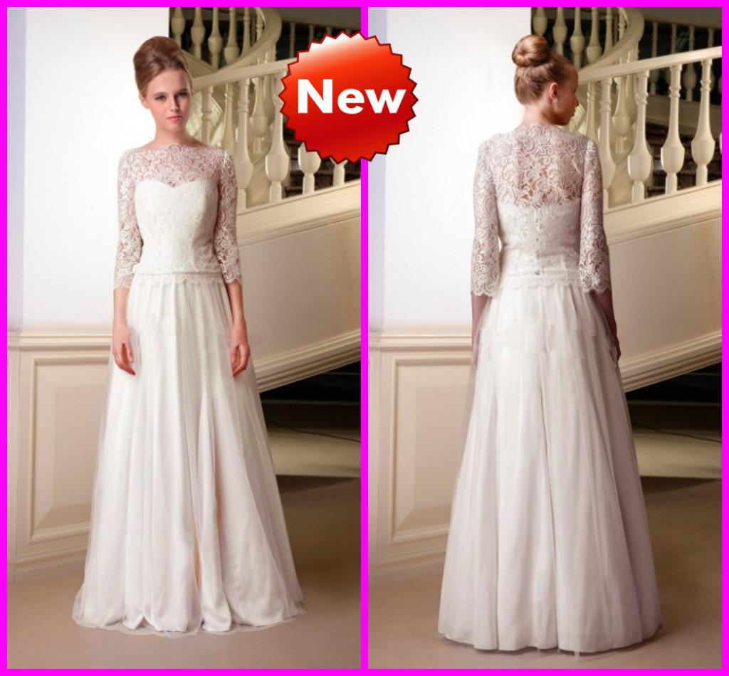 Detachable Lace Bolero Chiffon Wedding Dresses 2013