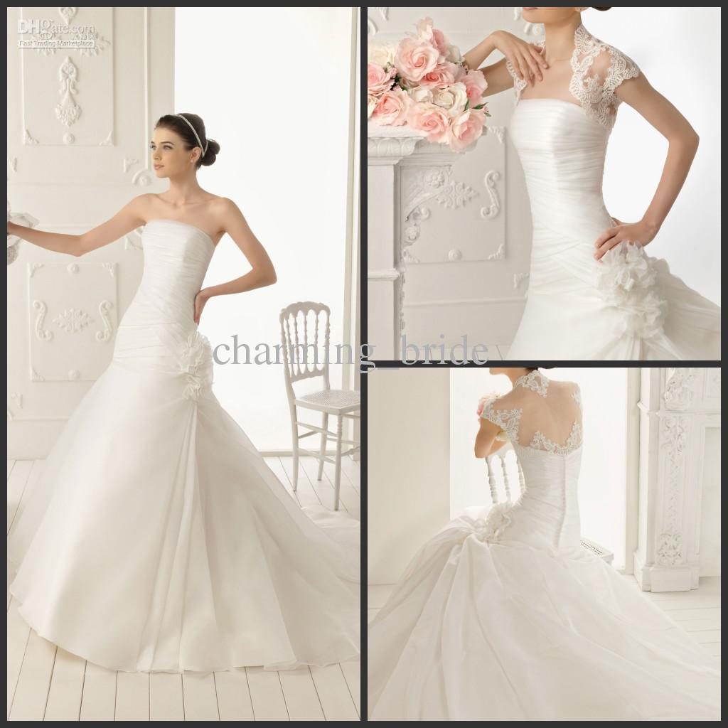Simple Wedding Dress Hire: Discount Simple 2013 Strapless Wedding Dresses Jacket