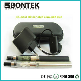 Wholesale Ego Ce5 Kit Package Case - wholesale- High quality E Cigarette EGO CE5 starter Kit in Zip Case Package DHL FEDEX free shipping
