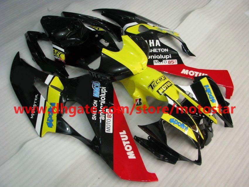 Yellow red bodywork fairing for 2006 2007 YAMAHA YZF-R6 YZFR6 06 07 YZF R6 fairings kit R66A