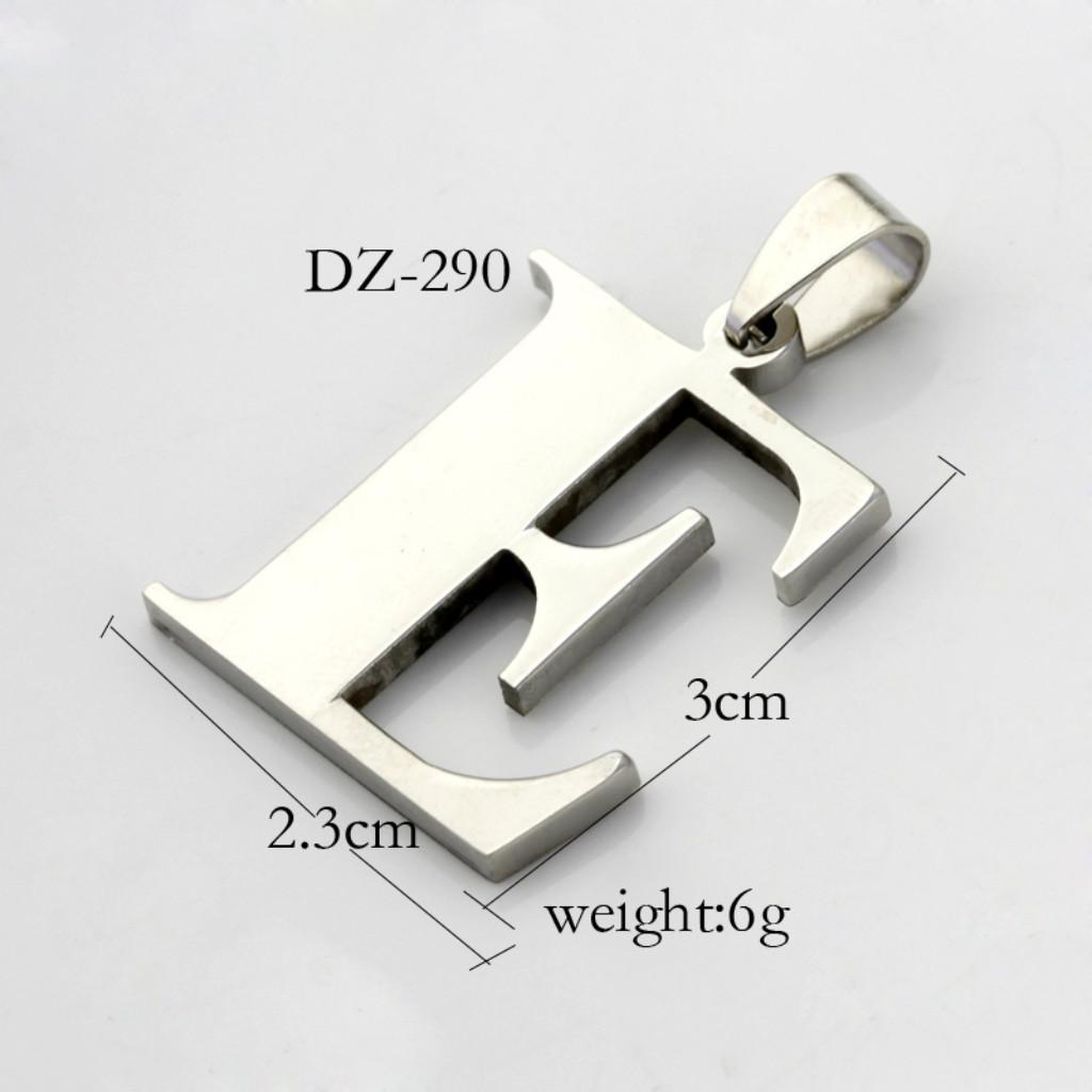 Eレターステンレス鋼の手動研磨性人格ペンダント、フリーチェーン