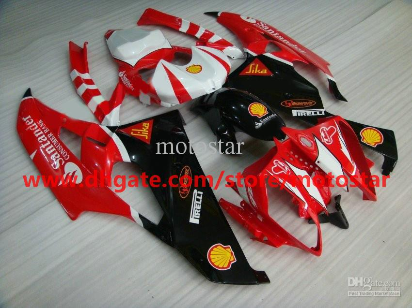red black santander fairing for 2006 2007 YAMAHA YZF-R6 YZFR6 06 07 YZF R6 fairings kit R53A