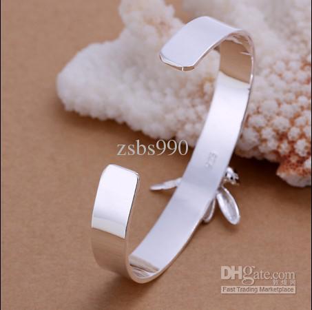 Braccialetto di / di modo dei braccialetti della libellula di zircon intarsiato 925 d'argento placcato di alta qualità